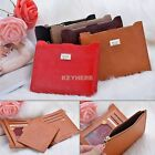 Women/Men Soft Leather Zipper Long Bifold Wallet Slim Purse Credit Card Holder K