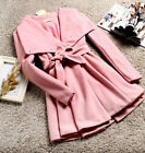 Sweety Womens Trench Coat Large Lapel Tunic Outwear Single-breasted Comfy Casual