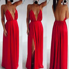 New Party/Evening Slip Dress Sexy Ladies Long Halterneck Nightdress Gown Size 68