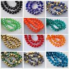 70pcs 8mm Rondelle Faceted Crystal Glass Loose Beads Findings, 34 Colors u Pick