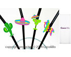 Coco&Bo Mexican Fiesta Cocktail Straws Sombrero Pinata Cactus Party Decorations