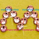 GENUINE Swarovski Rose Peach ( 262 ) Hotfix Rhinestone Iron On Round Crystal Gem