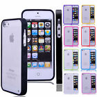 For iPhone 5 5G 5S Ultra-thin TPU Bumper Clear Transparent Hard Back Case Cover