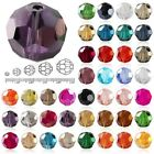72Pcs 8mm Fat Round Faceted Glass Rondelle DIY Crystal Beads For Charm Jewellery