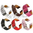 18mm 20mm 22mm PU Leather Adjuatable Buckle Watch Strap Band Wristband 6 Colours