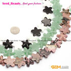 "New 20mm Natrual Starfish Gemstone Beads Strand 15""Various Materials Pick 2pcs"