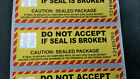 Parcel Postal Retail Security Seals Tamper Proof Stickers Hologram serials Label