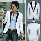 New Mens Casual Slim Fit Stylish suit pure white coat #1584