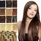 """USA STOCK New Expedited 15""""-28""""Soft Clip In Remy 100% Real Human Hair Extensions"""