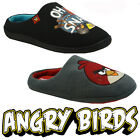 NEW MENS ANGRY BIRDS NOVELTY COMFORT FLAT WARM WINTER CASUAL SLIPPERS MULES SIZE