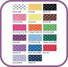 15mm Micro Polka Dot Satin Ribbon - Choice of Colours and Length - Free Post