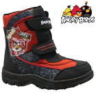 BOYS INFANT ANGRY BIRDS WINTER SNOW MOON MUCKER WATERPROOF WELLINGTONS BOOTS