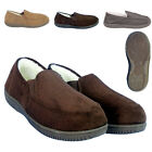 NEW MENS SLIPPER MULES FLAT LINED OUTDOOR SOLE FUR FLEECE LINING SIZE 6789101112