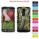 For LG G2 Camo Mossy Oak Design Hard & Rubber Hybrid Rugged Impact Case Cover