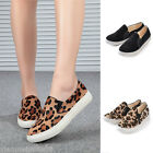 New Women's Fashion Slip On Sneakers Flats Girl's Preppy Shoes Casual Loafers
