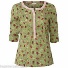 NEW WHITE STUFF GREEN PINK RED ELLA FLORAL TUNIC SHIRT BLOUSE SUMMER TOP