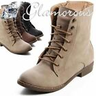 New Boots Lace Up Ankle Boots Lace Up Women's Shoes Zip