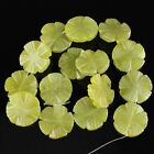 K59653 28mm Carved Gemstone Olivine flower loose beads 15pcs wholesale mix