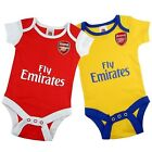 Arsenal FC Official Football Gift 2 Pack Home Away Kit Baby Bodysuits