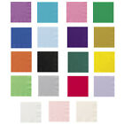 "20x 13"" (33cm) Paper Napkins 2Ply Solid Colours Party Event Catering Food"