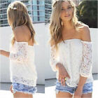 2014 New Hot Women Lace Hollow  Loose Tops Fashion Casual T-Shirt Blouse
