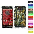 For Motorola Droid Maxx /Ultra Camo Mossy Design Hybrid Rugged Impact Case Cover