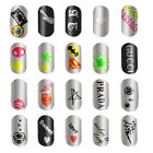 New Colorful Easy Nail Art Tips Stickers Decal Wraps Acrylic Manicure Decoration