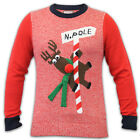 Mens 3D Christmas Jumper Merry Xmas Knit Novelty Elf Reindeer Googly Eyes Winter