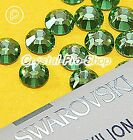 GENUINE Swarovski Peridot (214) Iron On Glass Flat back Hot fix Rhinestones Gems