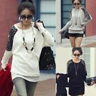 1PC Women Ladies Leopard Print Long Sleeve Loose T shirt Tops Blouse Gayly