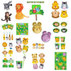 JUNGLE TABLEWARE HIPPO MONKEY ZEBRA DECORATIONS PARTYTIME KIDS THEME VALUE FUN