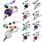 Healing Dowsing Reiki Divination Gemstone Pendulum With 7 CHakra Stone Chain