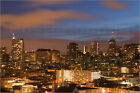 "Poster / Leinwandbild ""View of the city skyline from Coit Hill in..."" - C. Haney"
