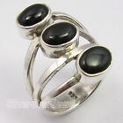 925 Pure Silver BLACK ONYX BIG GORGEOUS Ring Any Size