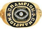 FANTASY FOOTBALL CHAMPION RING +BOX 24K GOLD 19 STONES MENS SIZE  7 8 9 10 11 12