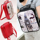 New Women Girls Tower PU leather Backpack School Bookbag Campus Shoulder Bags