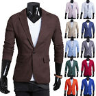 Men Fashion One Button Linen Slim Fit Slim Casual&Dress Suit Coat Jacket Blazers