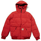 CARHARTT AW14 BELMONT HOODED QUILTED BOMBER JACKET TUSCANY RED