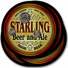 Starling Beer and Ale Coasters - 4pak - Great Gift