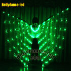 126 LEDs isis wings rechargeable belly dance club light up show free sticks BAG