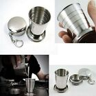 Mini Retractable Stainless Steel Outdoor Travel Folding Collapsible Drinking Cup