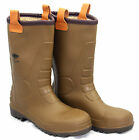 MENS WELLINGTON DICKIES RIGGER FUR LINED SAFETY STEEL TOE CAP WORK BOOTS SHOE