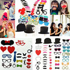 Photo Booth Props Glasses Crown Hat Mustache On A Stick For Wedding Party Decor