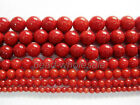 A strand (16'') Red Natural Coral Gemstone Round Bead Spacer Beads