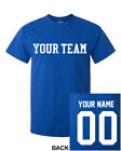 CUSTOM T-Shirt JERSEY Personalized ANY COLOR Name Number Team Softball Football
