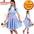 I99 Deluxe Ladies Wizard of OZ Dorothy Halloween Fancy Dress Up Costume Outfit