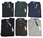 Polo Ralph Lauren Mens Custom Fit Slim Big Pony #3 Knit Button Shirt New M L XL