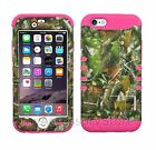 """For 4.7"""" iPhone 6/iPhone 6s Camo Mossy Oak Hybrid Rugged Impact Armor Phone Case"""