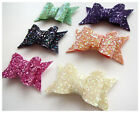 CHUNKY Glitter Fabric Bow - SMALL - WITHOUT CLIP