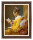 A Young Girl Reading Jean Honore Fragonard Painting Repro Framed Fine Art Print